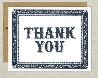 ON SALE - Thank You Greeting Card
