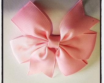 Pink Grosgrain Ribbon Hair Bows