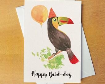Birthday Card - Bird pun card