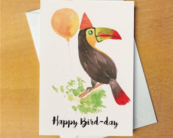 Happy Bird-day card Toucan card