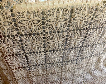 crochet lace curtain etsy