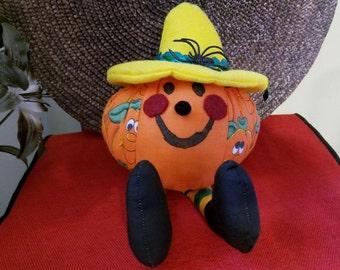 Pumpkin Sporting It's Yellow Hat A3