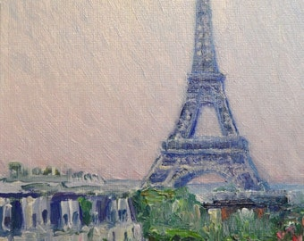 Levent Deparis Impressionist Painting- Eiffel Tower Paris France