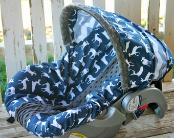 Pink Realtree Camo With Brown Minky Car Seat By Squeakybugbabies