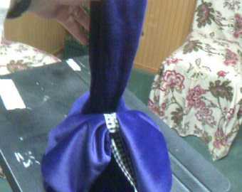 Purple Corduroy Purse