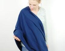 Nursing scarf, Blue Nursing cover ,Nursing cover scarf, Nursing Poncho,Infinity Nursing Scarf,Breastfeeding Cover up,Scarf