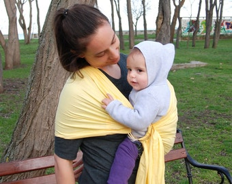 Baby Sling Ring ,Yellow baby sling,Ring sling,Baby Carrier, Sling,Baby Wrap, Baby Sling with rings