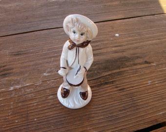 Vintage Porcelain Boy Figurine /   Porcelain Folk Dancers Boy Figurine Vintage Porcelain Figurine / ceramic boy / old porcelain /