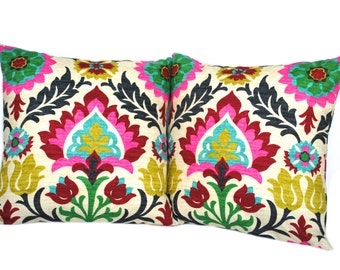 SALE 15% OFF Waverly Santa Maria Desert Flower pillow covers, decorative throw pillow, decorative pillow, accent pillow, 18x18 pillow