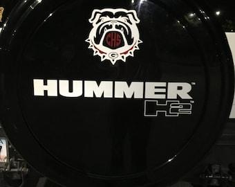 Vinyl Monogram Bulldog with initials