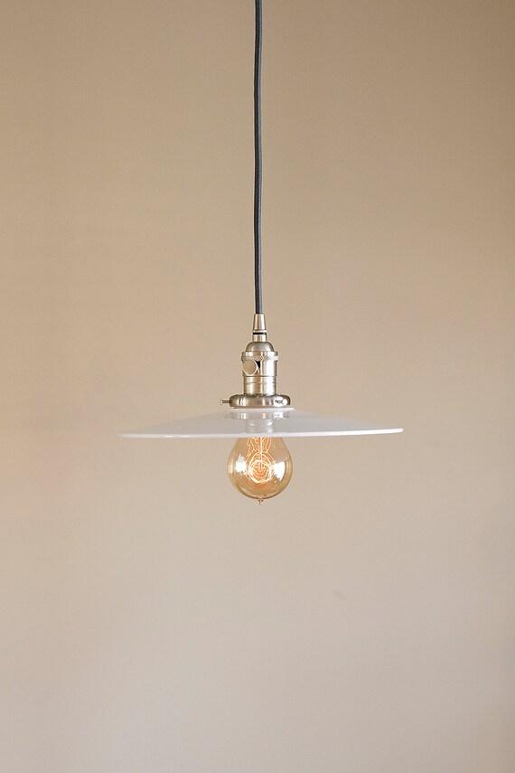 Large Glass Pendant Light Fixture Vintage Style Industrial