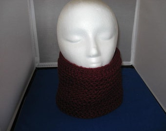 Burgundy warm Infinity Neck Warmer/Cowl