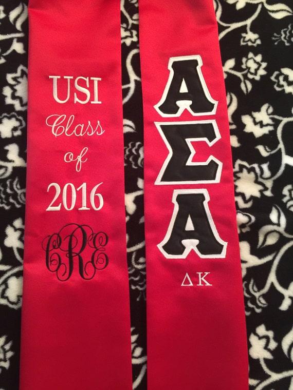 Alpha Sigma Alpha Graduation Stole Double Layer By