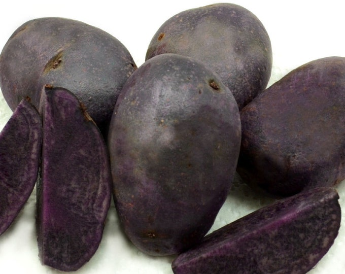 Purple Majesty Seed Potatoes Certified Organic and Virus Free 15 Lbs. Spring Shipping and Planting Non-GMO