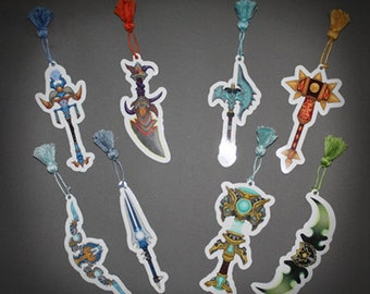 World of Warcraft inspired - Legendary weapon bookmarks