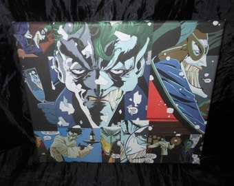 The Joker canvas 30cm by 25cm