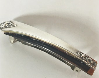 Vintage Sterling Silver Spoon Barrette