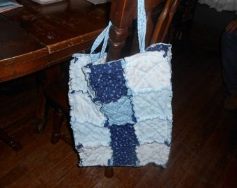 Rag quilted bag