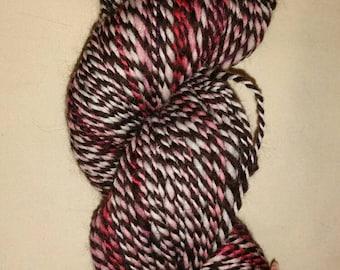 Pink Zebra - Handspun corridale yarn
