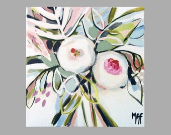 """Original Paintings of Flowers, Floral Wall Decoration, Flower Painting """"Flowers of May"""" #13"""