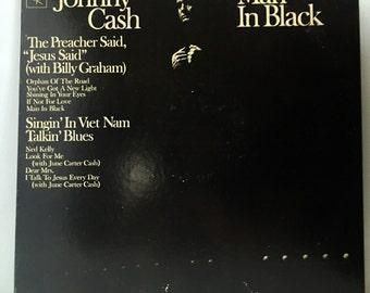 Johnny Cash Man In Black Vintage Vinyl Record Album LP