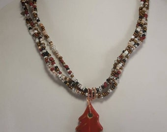 Natural Tones Beaded Necklace