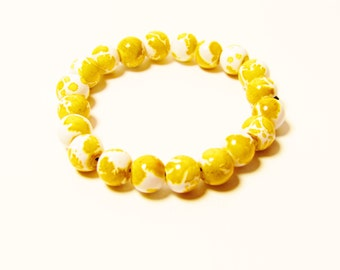 D-00968 - 20 Glass beads 4mm Yellow