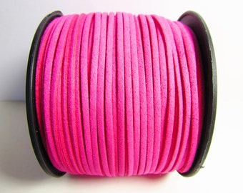 D-02685 - 2 m  Faux suede cord pink