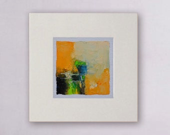 Small painting,Original abstract ,wall art, wall decor,  Abstract painting,  Abstract # 427,  oil painting on canvas with free simple frame.