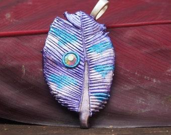 Purple Feather Pendant