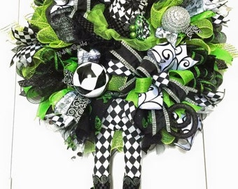 Witchy Wicked Bling Witch Wreath, Halloween Wreath, Witch Wreath, Witch Decor, Halloween Decor, Holiday Decor