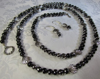 Black and Silver with Shells
