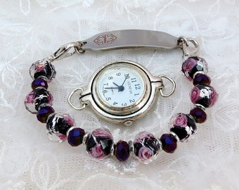 Interchangeable Stretchy Medical Alert ID or Watch Bracelet