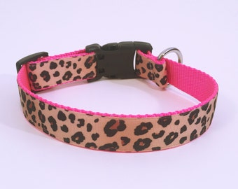 Personalized Cheetah Print Dog Collar