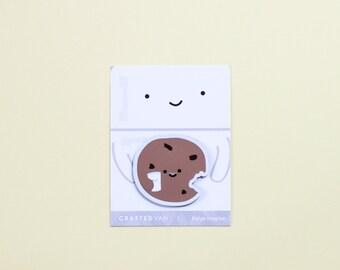 Cookie holding Milk Fridge Magnet
