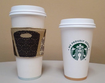 Purses and Handbags Fabric Coffee Cozy,Custom Coffee Cup Sleeve,Coffee Cup Holder,fabric coffee holder, iced Latte