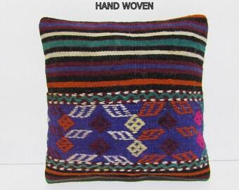 turkish kilim pillow sofa cushion cover kilim throw pillow kilim cushion accent pillow case decorative pillow turkish throw pillow case D475