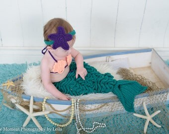 Baby Mermaid Costume -  Baby Mermaid Outfit - Mermaid Costume for babies - Baby  Costume -new baby gift  - little mermaid tail