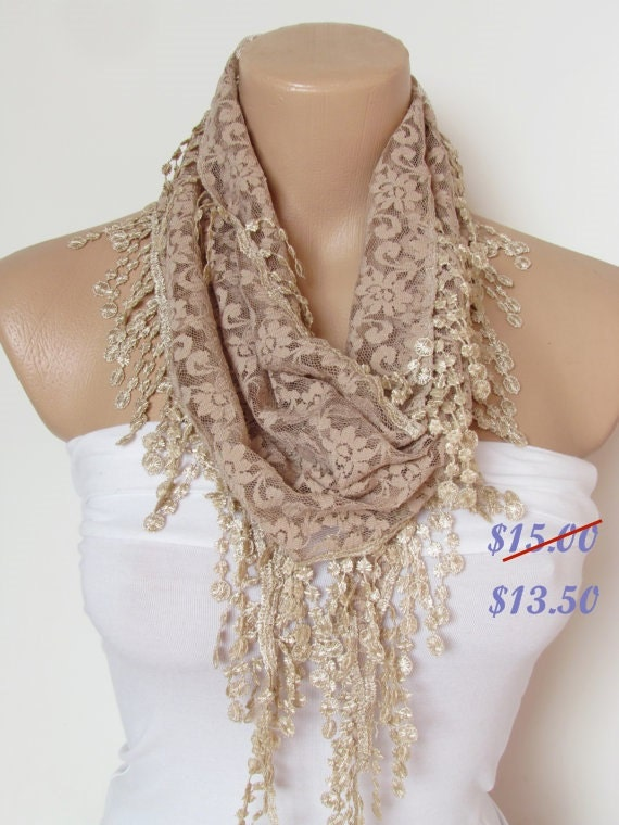 Long wedding scarf women fashion accessories christmas gift for her