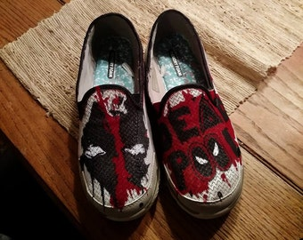 Custom Hand-painted memory-foam slip-on shoes
