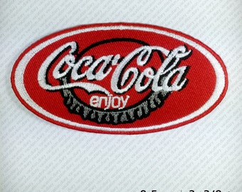 Coca Cola COKE Embroidered Patch Iron on Clothes Decorate DIY Splash SODA Enjoy