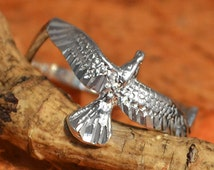 Flying Eagle Ring - .925 Sterling Silver - Gift Idea - MeaningFul Gift - Handmade - Anniversary Gift - Silver Eagle- Free Shipping!!!!