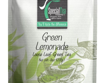 8 oz. Lemonade Loose Leaf Green Tea with Free Tea Infuser