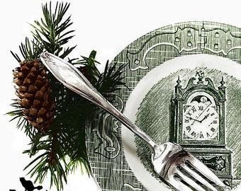 Dessert Forks/Salad Forks, Matching 11 Piece Set, Vintage Silverplate, Shabby Chic Holiday Tableware
