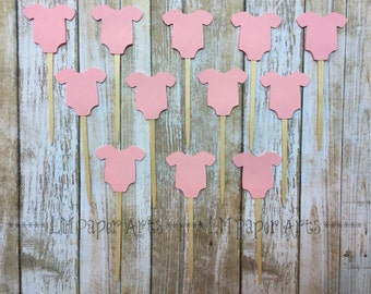 Onesie Cupcake Toppers - Set of 12
