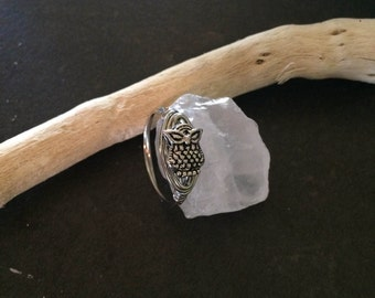 Delicate Wire Wrapped Owl Ring