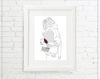 Illustration winter doll 1