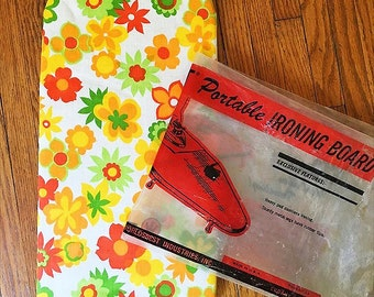 Retro Flower Portable Ironing Board