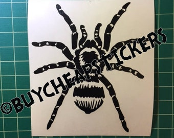 Tarantula Spider Decal - Sticker 3x3 Any Color
