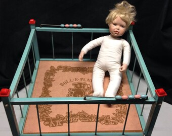 Vintage Amsco Metal Doll Playpen Circa 1950's